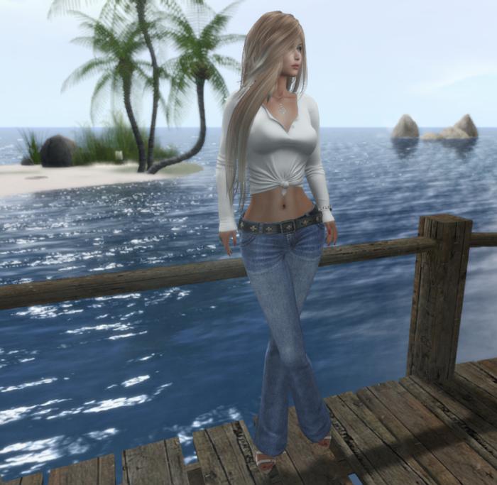 L&B Jeans Blueberry Shyla Top