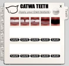 Teeth can be changed - and customized with open slots